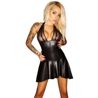 Wetlook-Kleid Mit Powernet S | Noir